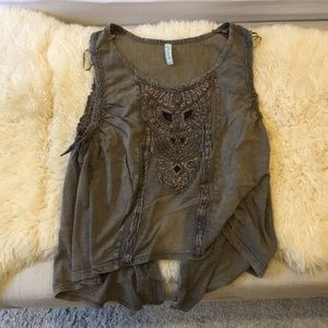 NWOT Free People Owl Tank Top